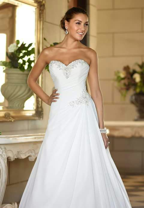 Wedding Dress Off-Shoulder with sequence