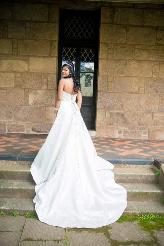 Wedding dress Off-Shoulder with Cathedral train